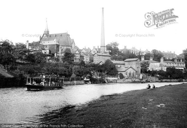 Photo of Chester, St Paul's Church And River Dee 1914