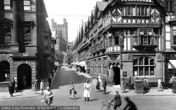 Photo of Chester, St Werburgh Street 1929