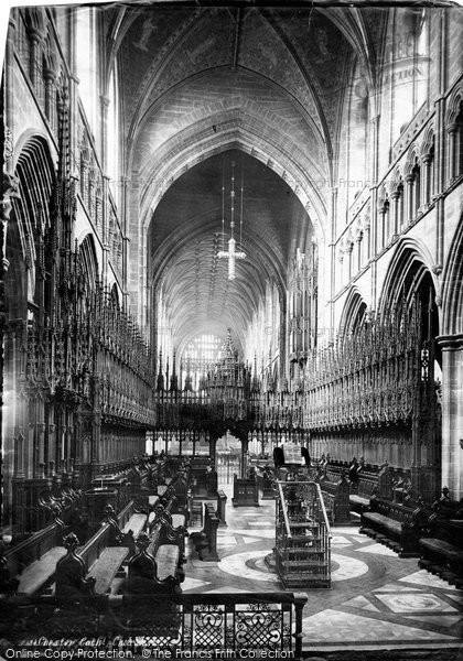 Photo of Chester, The Cathedral, Chior West 1888