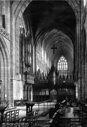 Chester, The Cathedral Choir Screen 1888