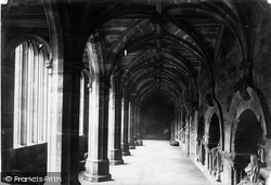 Chester, The Cathedral Cloisters 1888