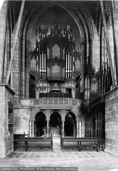 Photo of Chester, The Cathedral Organ Screen 1888