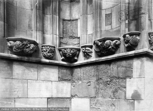 Photo of Chester, The Cathedral, Political Corbels 1888
