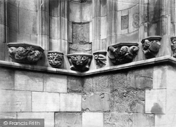 Chester, The Cathedral, Political Corbels 1888