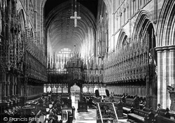 Chester, The Cathedral, The Choir Looking West 1888