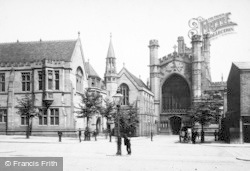 Chester, The Cathedral, The West Front 1888
