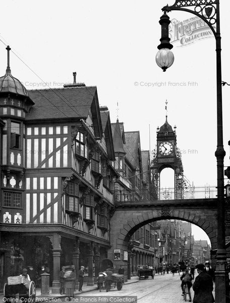 Photo of Chester, The Eastgate c1950, ref. C82055
