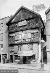 Chester, The Oldest House, Lower Bridge Street 1895