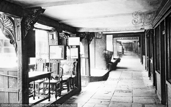 Photo of Chester, Watergate Rows 1888