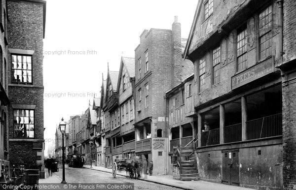 Photo of Chester, Watergate Street 1895, ref. 36453
