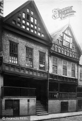 Chester, Watergate Street, Bishop Lloyd's House 1888