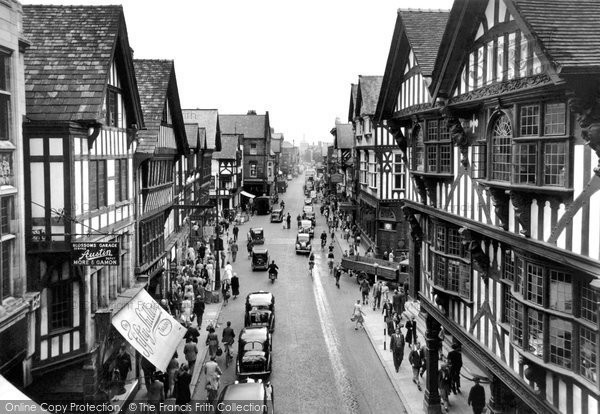 Photo of Chester, West From Eastgate 1949