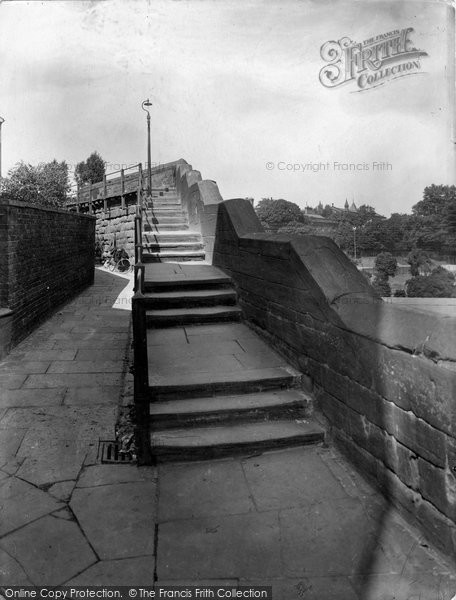 Photo of Chester, Wishing Steps and City Wall 1929, ref. 82751