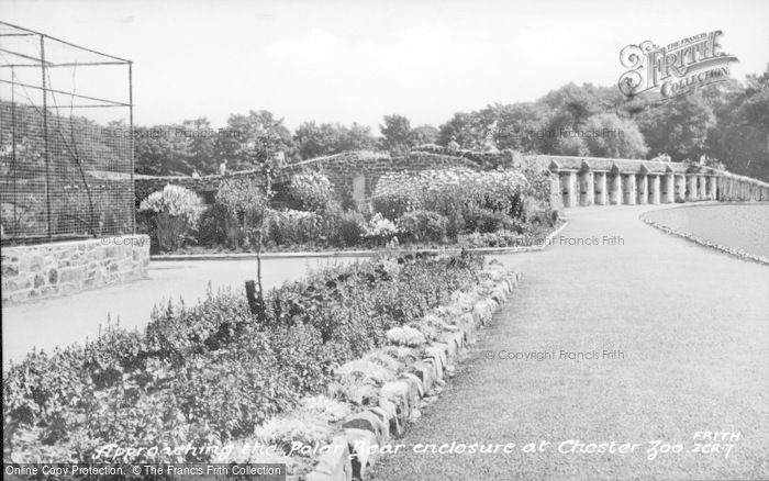 Photo of Chester Zoo, Approaching The Polar Bear Enclosure c.1950