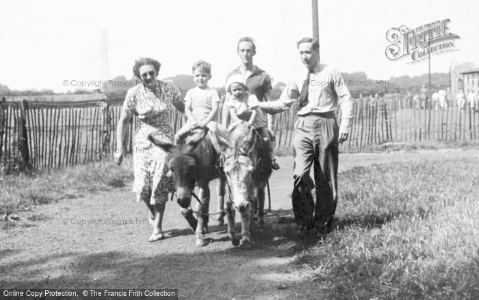 Photo of Chester Zoo, Donkey Riding c.1950
