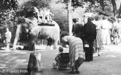 Chester Zoo, Elephant Riding c.1950