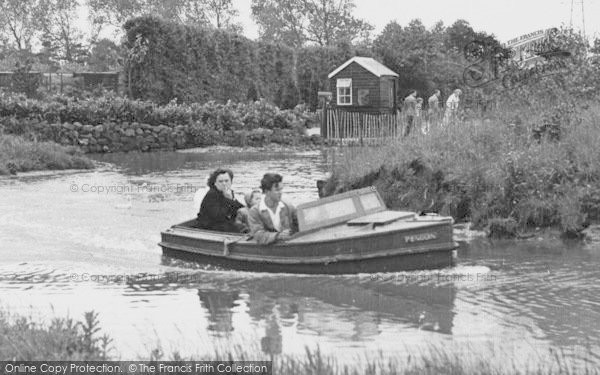 Photo of Chester Zoo, Motor Boat On The Waterways c.1955