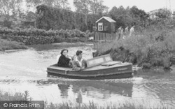 Chester Zoo, Motor Boat On The Waterways c.1955