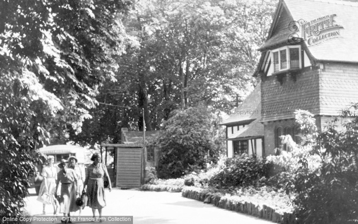 Photo of Chester Zoo, View Of The Lodge At Main Entrance c.1950