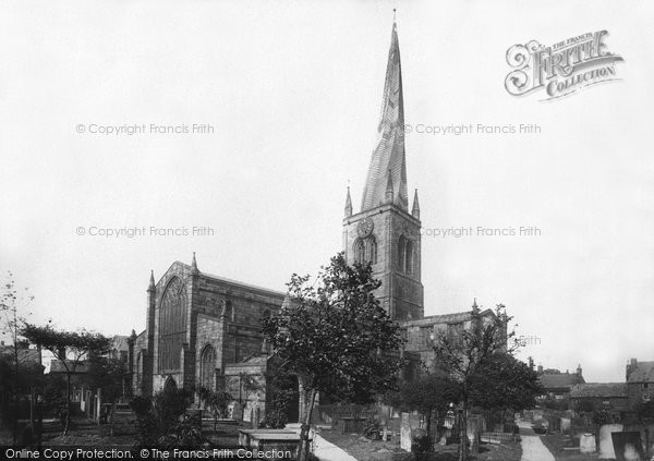 Chesterfield, Church, south west 1896