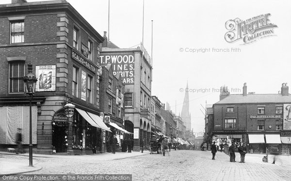 Photo of Chesterfield, High Street 1896