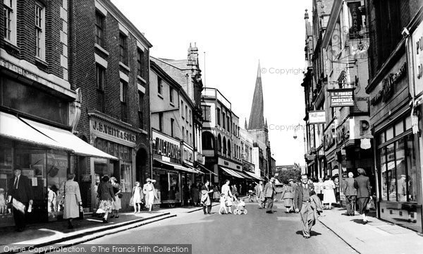 Photo of Chesterfield, High Street c.1955