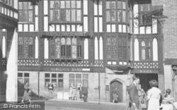 Knifesmithgate, Barclays Bank c.1955, Chesterfield