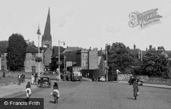 The Town Hall And Rose Hill c.1955, Chesterfield