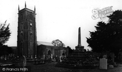 Chew Magna, St Andrew's Church And Cross c.1955