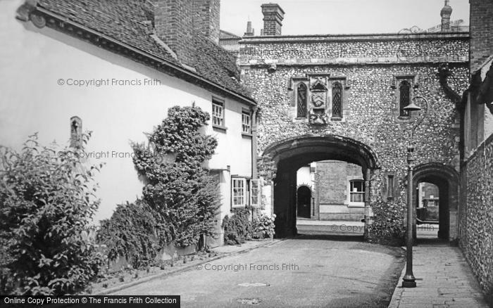 Photo of Chichester, Canon Gate c.1960