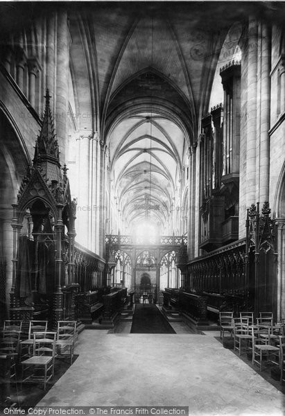 Photo of Chichester, Cathedral Choir West 1891