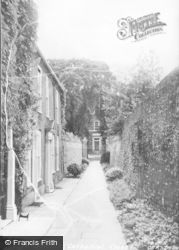 Chichester, Cathedral Close c.1955