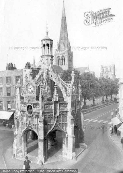 Photo of Chichester, Cathedral, Cross And Tower c.1960