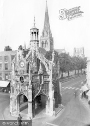 Chichester, Cathedral, Cross And Tower c.1960
