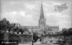 Chichester, Cathedral From Deanery 1906