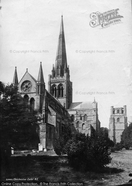 Photo of Chichester, Cathedral From The North East 1890