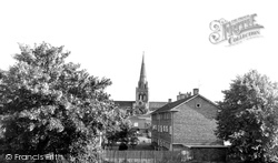 Chichester, Cathedral From The Walls c.1960