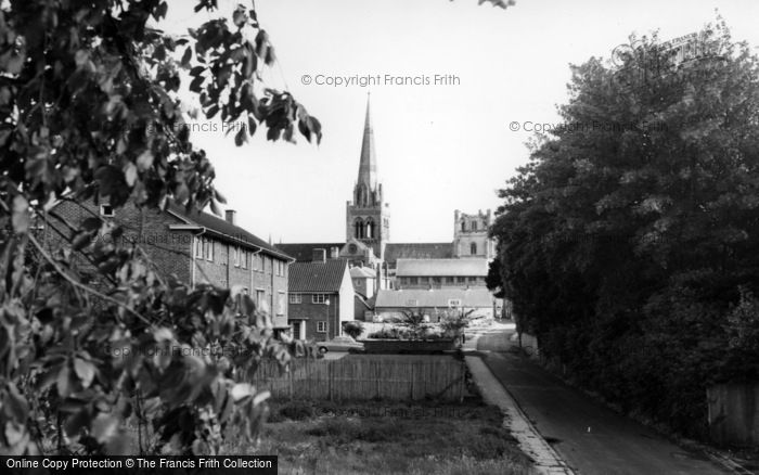 Photo of Chichester, Cathedral From The Walls c.1965