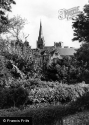 Chichester, Cathedral From The Walls c.1965