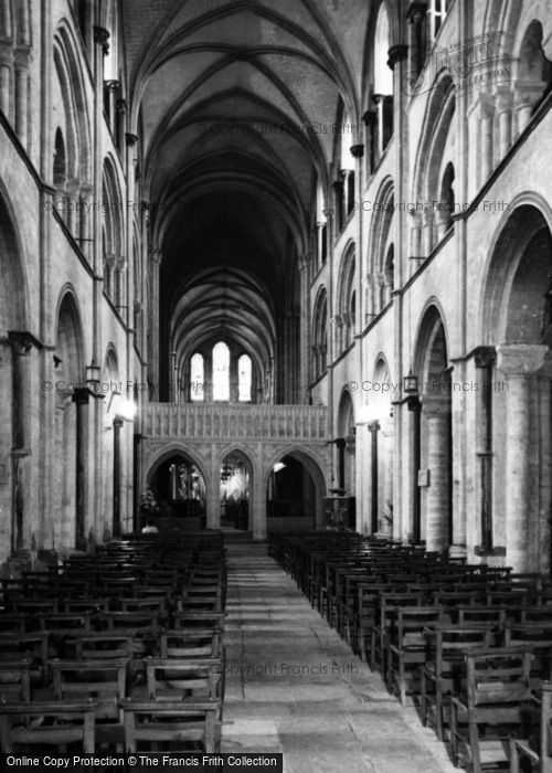 Photo of Chichester, Cathedral Interior c.1965