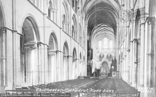 Photo of Chichester, Cathedral, Nave East 1890