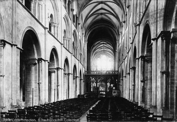 Photo of Chichester, Cathedral Nave East 1891