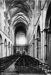 Chichester, Cathedral Nave East 1891