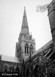 Chichester, Cathedral Spire c.1950