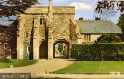 Chichester, Entrance To Bishops Palace c.1960