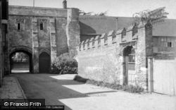 Chichester, Gatehouse To Bishop's Palace, Canon Lane c.1950