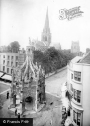 Chichester, Market Cross And Cathedral Spire 1892