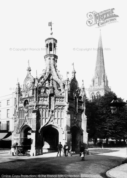 Photo of Chichester, Market Cross And Cathedral Spire 1892