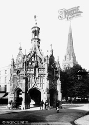 Market Cross And Cathedral Spire 1892, Chichester