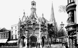 Chichester, Market Cross And The Cathedral 1903